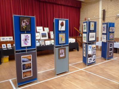 Paintings on shom at Village Hall
