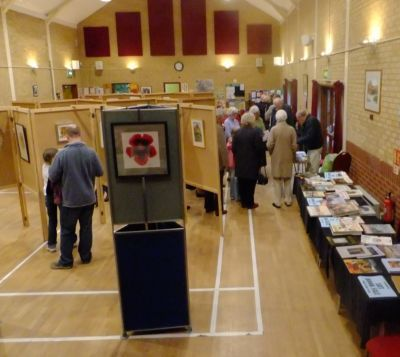 Art demonstration in Village Hall