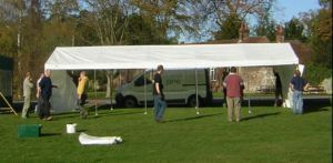 Beer Tent going up
