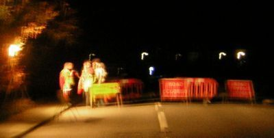 Traffic control at junction  A283 Woodside Road