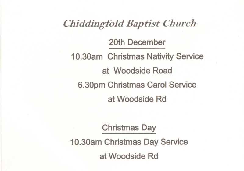 Church services in Chiddingfold