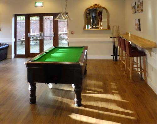 Interior of The Villagers with pool table