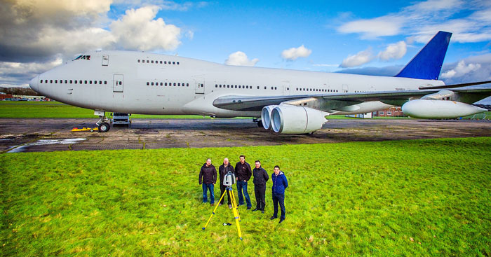 Jumbo Jet at Dunsfold with members of Cadmap staff