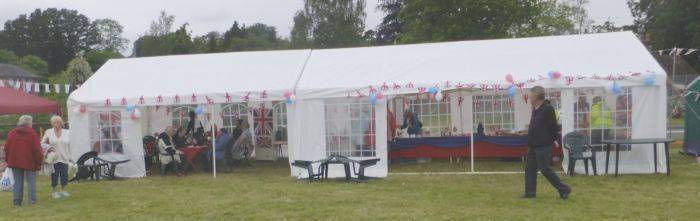 Full view of tea tent