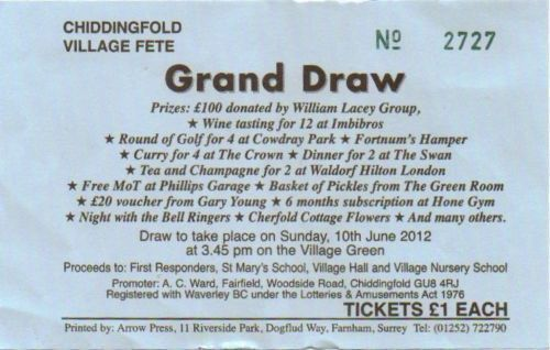 Ticket for grand draw