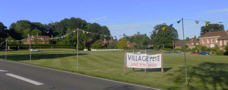 Village Green and fete sign