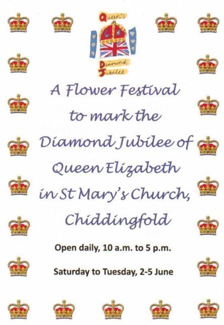 Jubilee Poster Flower Festival in The Church