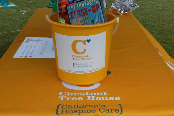 Charity stall CHESTNUT TREE HOUSE CHILDRENS HOSPICE CARE